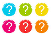 Colorful icons with question mark — Stock Photo