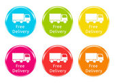 Free Delivery icons — Stock Photo