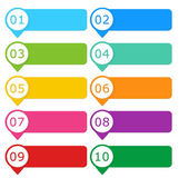 Colorful buttons for website — Stock Photo
