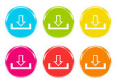 Colorful icons for downloads — Stock Photo