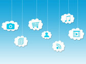 In the cloud, cloud computing — Stock Photo