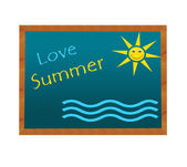 Blackboard with Love Summer image — Stock Photo