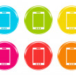 Colorful icons with phone symbol — Stock Photo
