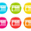 Colorful icons to symbolize news — Stockfoto