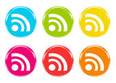 Colorful icons with rss symbol — Stock Photo