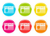 Colorful icons to symbolize news — Stock Photo