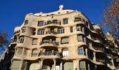 La pedrera,巴塞罗那-西班牙的视图 — 图库照片