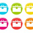 Colorful briefcases icons — Stock Photo