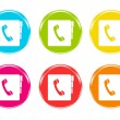 colorful phone book icons — Stock Photo