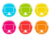 Colorful icons with screen symbol — Stock Photo