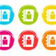 Photo: Colorful icons with phonebook symbol