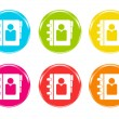 Stock Photo: Colorful icons with phonebook symbol