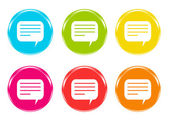 Colorful icons with dialog symbol — Stock Photo