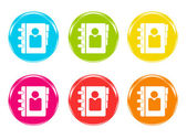 Colorful icons with phonebook symbol — ストック写真
