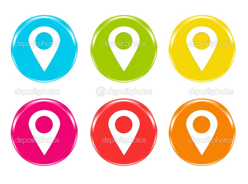 Icono Ubicacion Google Maps Png 3 Png Image: Ícones Com Marcadores No Símbolo De Mapas