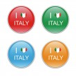 Icons to symbolize I Love Italy — Stock Photo #30568577