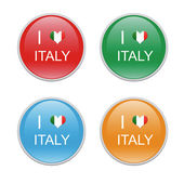 Icons to symbolize I Love Italy — Stock Photo