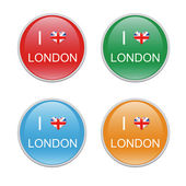 Icons to symbolize I Love London — Stock Photo