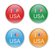 I Love USA icons — Stock Photo