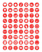 Red icons — Stock Photo