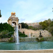 Fountain in Parc de la Ciutadella — Stock Photo