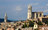 City of Girona with the Cathedral — Stockfoto