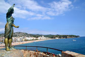 Beach of Lloret de Mar, Spain — Stok fotoğraf