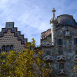 Casa Batllo and Casa Amatller Facades in Barcelona, Spain — Stock Photo