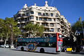 Tourist bus in Barcelona, Spain — Stock Photo
