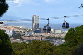 Teleferic of Montjuic in Barcelona, Spain — Stock Photo