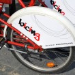 Stock Photo: Bicycles of the bicing service in Barcelona