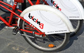 Bicycles of the bicing service in Barcelona — Stock Photo