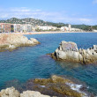 View of the beach of Lloret de Mar, Catalonia, Spain — Stock Photo