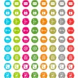 Set of colorful web icons — Stock Photo