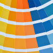 Stock Photo: Close up of pantone color catalog