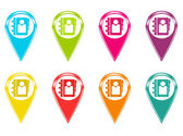 Set of icons with address book symbol — Stock Photo