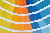 Close up of a pantone color catalog — Stock Photo