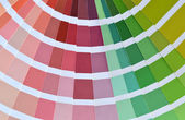 Sample of pantone colors catalog — Stock Photo