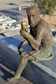 Monkey Sculpture in Badalona, Spain — Stock Photo