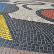 Joan Miro Mosaic in Barcelona, Spain — Stock Photo