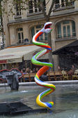 Stravinsky Fountain in Paris, France — Stock Photo