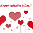 Postcard with hearts for Happy Valentine Day — Stock Photo #39715997