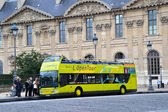Tourist Bus in Paris, France — Stock Photo