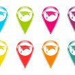 Set of icons or colored markers with graduation symbol — Stock Photo #40246047