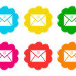Set of cloud icons with email symbol — Stock Photo
