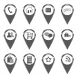 Stock Photo: Set of icons for web or markers on maps