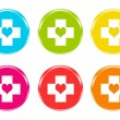 Icons with medical symbol — Stock Photo