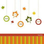 Herfst verkoop — Stockfoto