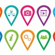 Icons for web or markers on maps — Stock Photo #42029421