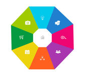 Abstract design with octagon — Stock Photo